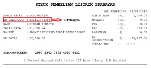 Cek ID Pelanggan PLN Token
