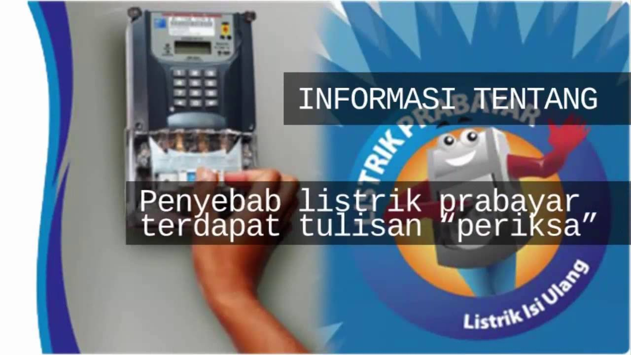 Kode PLN Prabayar Periksa, Maksudnya Apa??