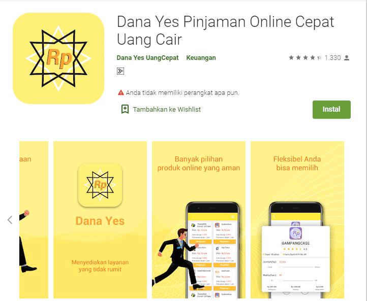 Dana Yes Pinjaman Online Cepat Uang Cair