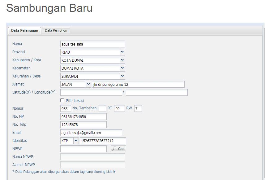 Cara Daftar Pasang Baru PLN Online